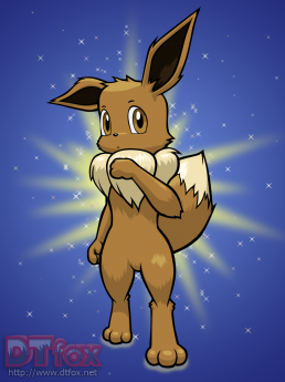 A furry anthro Eevee