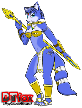 Blue vixen Krystal from Star Fox